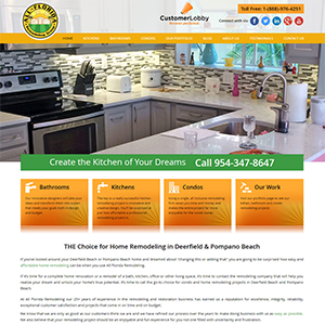 SRM Web Development Service All Florida Remodeling
