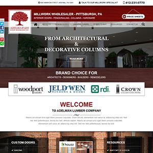 SRM Web Development Service Adelman Lumber Company