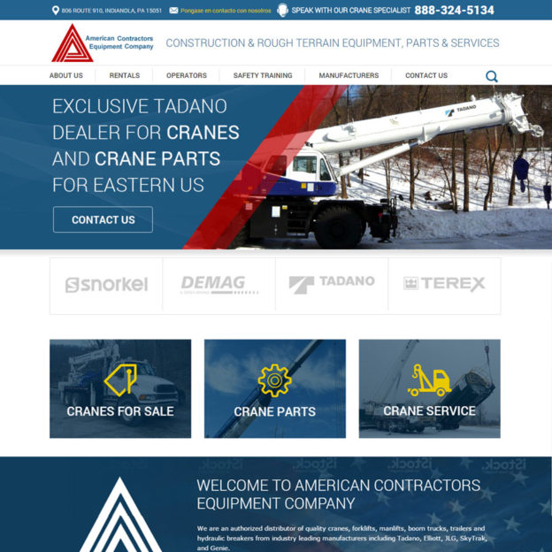 SRM Web Development Service American Contractors