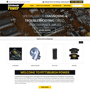 SRM Web Development Service Pittsburgh Power, Inc