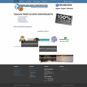 SRM SEO Service Brown and Sons Constructions