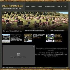 SRM SEO Service Larsens Memorials