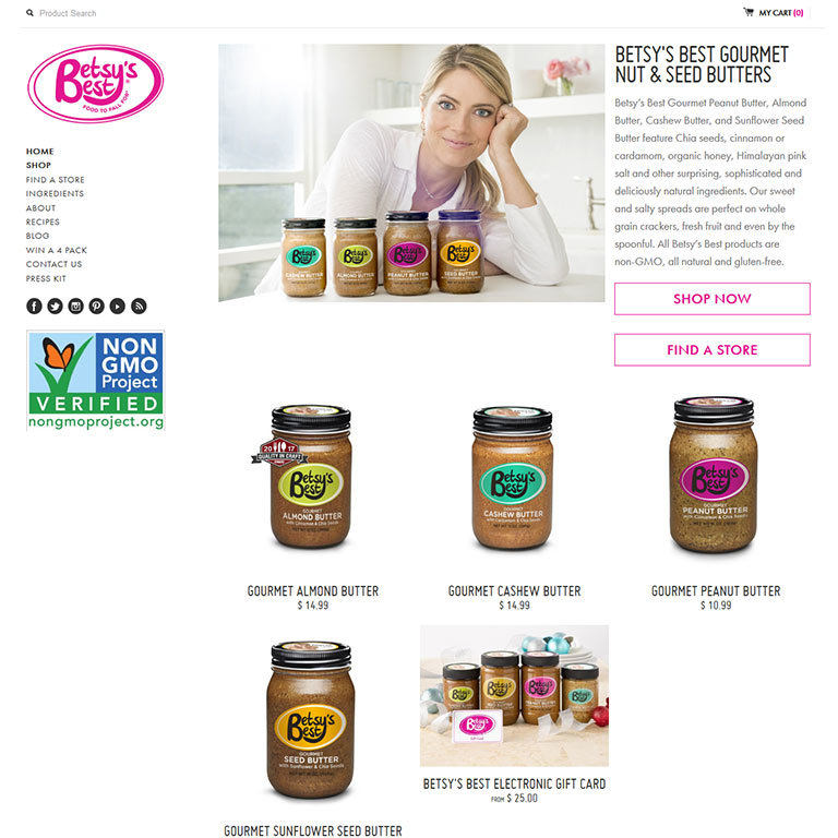 Betsy's Best Gourmet Nut and Seed Butters